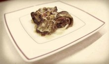 Ρολάκια μελιτζάνας με μοσχάρι