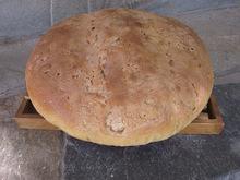 Χωριατικο ψωμι με προζυμι και μαγια