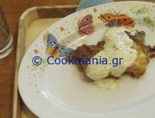 Σαγανάκι με φέτα βόλου και σάλτσα ούζου
