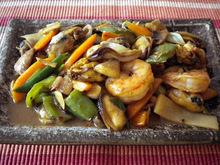 Θαλασσινα stir-fry με γλυκια σαλτσα σογιας