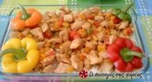 Κοτόπουλο με πιπεριές στο τηγάνι πανεύκολο!!