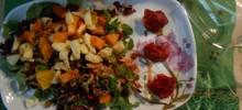 Πράσινη σαλάτα με φρούτα