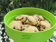 μαλακά cookies με σοκολάτα υγείας