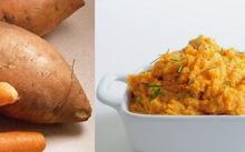 Πουρές γλυκοπατάτας με καρότο