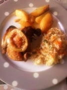 Κοτόπουλο στο φούρνο με καρδάμωμο και πιπέρια