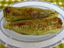 Πιπεριές κέρατα γεμιστές με κιμά και μανιτάρια