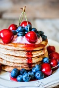 Pancakes χωρίς ζάχαρη (με στέβια), αλεύρι ολικής κ βρώμη και μια παγωτένια ξενάγηση