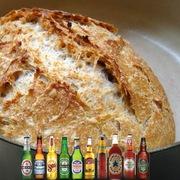 Ψωμί μπύρας χωρίς ζύμωμα με κάρδαμο