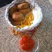 Τονοκεφτέδες και πατατατοκεφτέδες greek tuna fish balls and potato croquettes