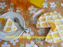 Cheese cake λεμόνι, πορτοκάλι με ανθότυρο & ζελέ