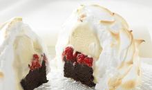 Παγωτό της φωτιάς με φραμπουάζ και σοκολάτα