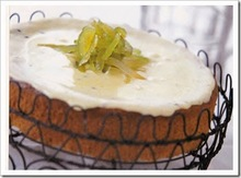 Κέικ με άσπρη κρέμα