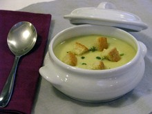 Σούπα βελουτέ (πατατόσουπα)