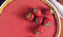 Κρύα πίτα με φρούτα βανίλιες