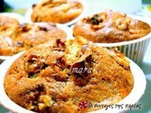 Muffins με κυδώνια και μήλα
