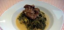 Κρέας με αντίδια αυγολέμονο