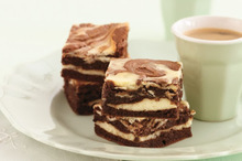 Σοκολατένια μπράουνις με τυρί κρέμα!