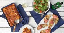 Πίτες αραβικές με μαραθόσπορο, γραβιέρα και προσούτο ευρυτανίας