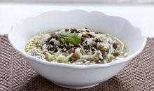 Φακές με φιδέ και ρύζι