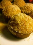 Doghnut muffins με μαρμελάδα