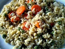 Ρυζοτο με αρακα και καροτο
