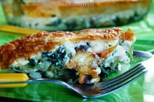 Σουφλέ με σπανάκι, πατάτες και μανιτάρια/spinach, potato and mushroom souffle
