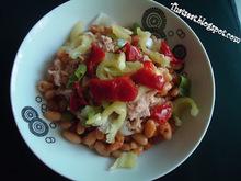Σαλάτα με φασόλια και τόνο