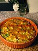 Ομελέτα φούρνου με κουνουπίδι και αρακά