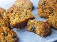 Μπισκότα με βρώμη, αποξηραμένα φρούτα και ξηρούς καρπούς