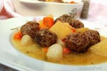 Κεφτέδες με λαχανικά/meatball stew