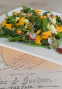 Σαλάτα με σπανάκι, πεκάνς και λωτό-spinach persimmon salad with pecans