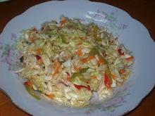 Σαλάτα λάχανο με καρότο, πιπεριές και σέλινο