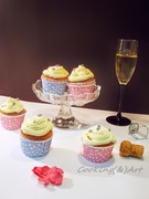 Cupcakes βανίλιας με βουτυρόκρεμα σαμπάνιας / vanilla cupcakes with champagne buttercream !