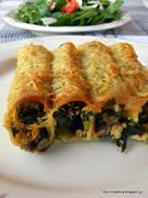 Κανελόνια  λαχανικών-canelloni stuffed with veggies