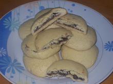 Μπισκότα γεμιστά με πραλίνα