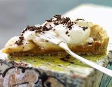 Γλυκό ψυγείου με μπανάνες και μπισκότα