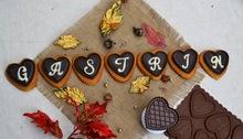 Choco hearts healthy cookies
