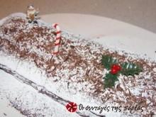 Χριστουγεννιάτικος κορμός με κάστανα