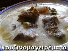 Κρεατόσουπα με ρυζάκι και αυγολέμονο (για τις κρύες μέρες του χειμώνα).