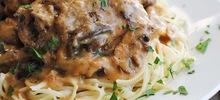 Λιγκουίνι με φιλέτο κοτόπουλο μέλι και μουστάρδα