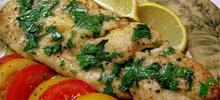 Γλώσσα ψάρι φιλέτο τηγανιτή πανέ λεμονάτη με κουρκούτι και αλεύρι