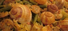 Θαλασσινά σαλιγκάρια με ρύζι
