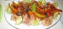 Ψάρι με πιπεριές στο φούρνο