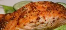 Σολομός φιλέτο ψητός στο φούρνο με σάλτσα από λεμόνι, μέλι και μουστάρδα