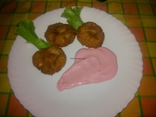 Μπιφτέκια απο καβουρόψιχα και ροζ σως