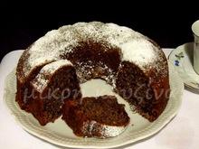 Μεθυσμένο κέικ με σοκολάτα και φουντούκια