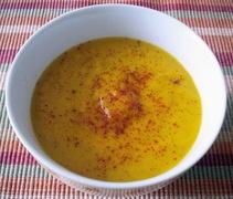 Βελουτε σουπα crécy με πορτοκαλι (potage crécy à l' orange)