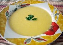 Βελουτε σουπα parmentier με τζιντζερ (potage parmentier au gingembre)