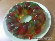 Τρίχρωμο εορταστικό ζελέ