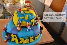 τούρτα rabbids invasion - birthday cake rabbids invasion